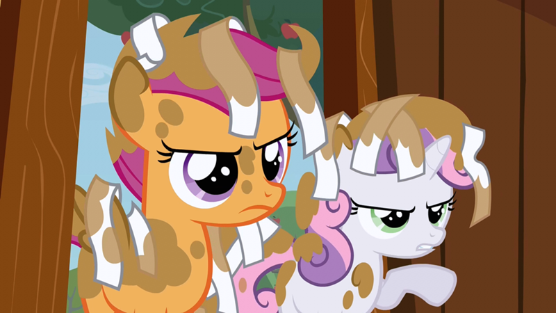 scootaloo and sweetie bell